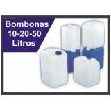 bombonas plásticas transparentes preço Pirituba