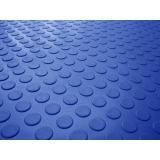 piso borracha pastilhado azul Brooklin