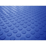 piso borracha pastilhado azul Perdizes
